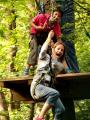 Aventure Land - Tyrolienne mère et fils