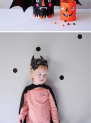 Bricolage Halloween : panier à bonbons