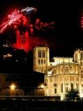 Feu d'artifice Lyon Fourvière