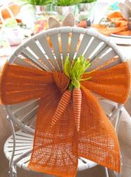 Décoration chaise Paques