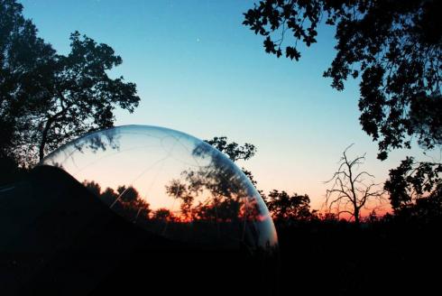 Hébergements insolites : bulle transparente