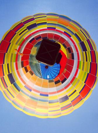 Montgolfiades de Saint-Emilion - Le ballon Salers de Laurent