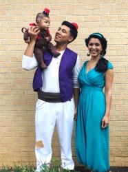 Déguisements famille thème Aladin : costume parents-enfant