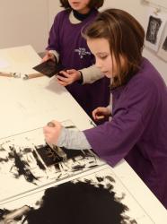 Visite enfant au Musée Beaux Arts Lyon © Mathilde Hospital
