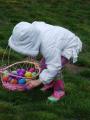 Chasse aux oeufs de Pâques au Labyrinthe de Merville - Enfant avec son panier