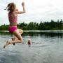 Baignade lac enfant