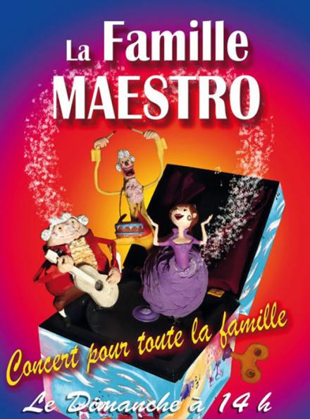 La Famille Maestro - Affiche du spectacle