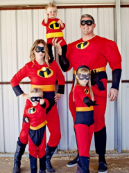 La Famille Indestructibles : costumes parents-enfants
