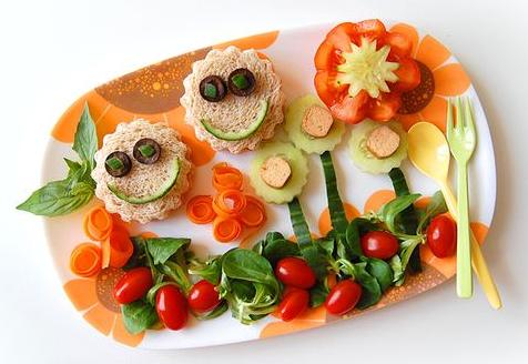 Assiette de légumes pour enfants