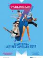 Affiche Quartiers en Lettres Capitales 2017.