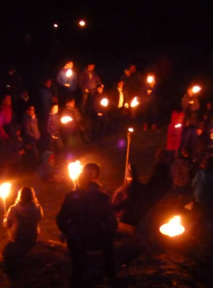 Balade à la torche à Volvic