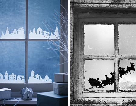 Vitres  idées de bricolage décorations de Noël