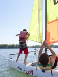 Stage vacances au Grand Parc Miribel Jonage - bateau