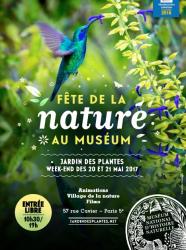 Fête de la Nature 2017 au Jardin des Plantes, Muséum national d'histoire naturelle - Affiche 2017