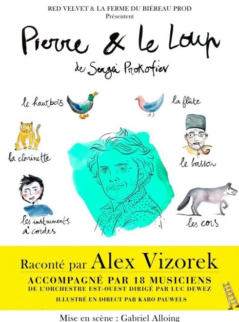 Pierre et le loup - Alex Vizorek : affiche