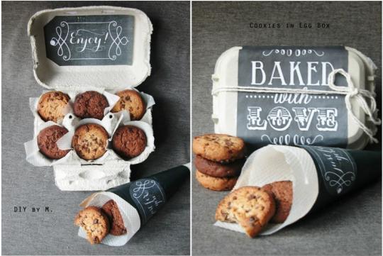Recette cadeau de Noël : cookies boîte à oeufs