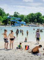 Ile de loisirs de Cergy-Pontoise - Baignade en été