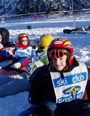 Les apprentis skieurs au Champ du Feu.