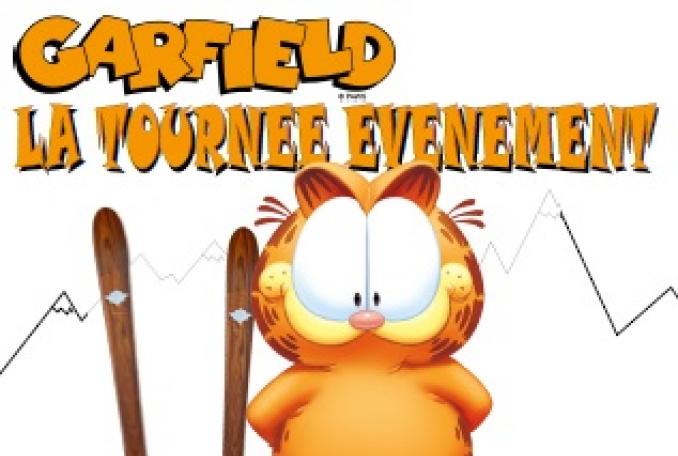 Garfield Tournée ski événement 2014