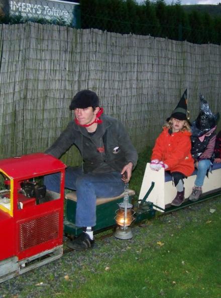 Train d'enfer halloween au Mini train des Monts du Lyonnais