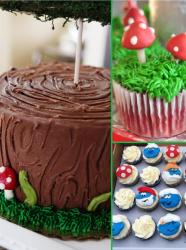 Différentes recettes de gâteau Schtroumpfs