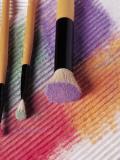 crayons pastels pinceaux