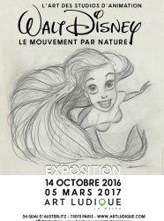 Expo L'art des studios d'animation Walt Disney - Le mouvement par nature