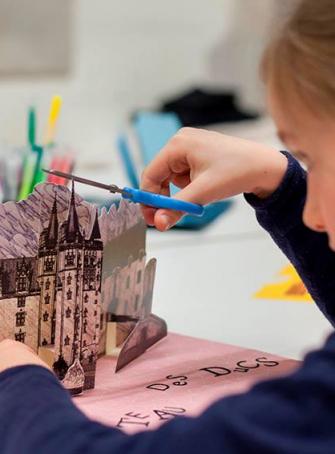 Nuit des Musées au Château des Ducs de Bretagne à Nantes, atelier arts plastiques enfants