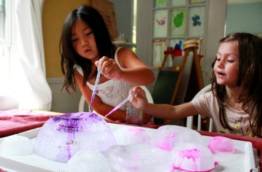 Expérience scientifique pour enfants